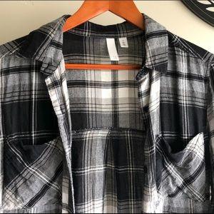 NORDSTROM/ Black & White Flannel/ Size S